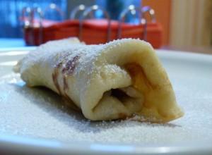 Pfannkuchen Rezept mit Bananencremefüllung