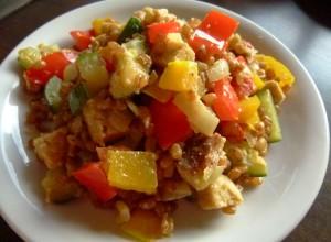 Rezepte mit Weizen : Herzhafte Weizenpfanne mit Seitan