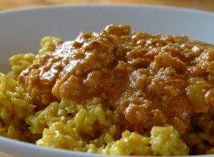 Reis mit Bolognese Arrabiata (vegan)