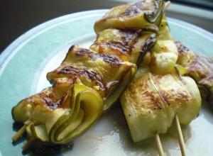 Rezept zum Grillen – Marinierte Zucchinispieße