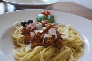 vegetarisch kochen Sauce Bolognese