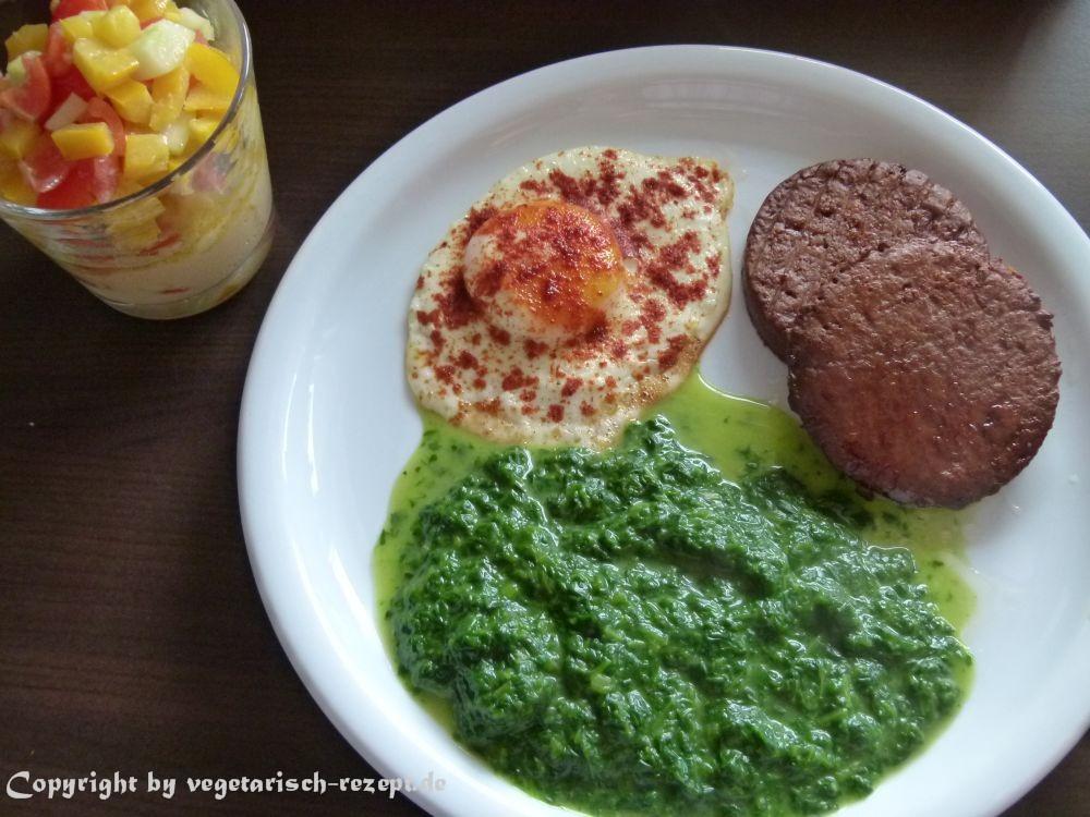 schnelle rezepte frikadellen spinat spiegelei und salat vegetarische rezepte. Black Bedroom Furniture Sets. Home Design Ideas